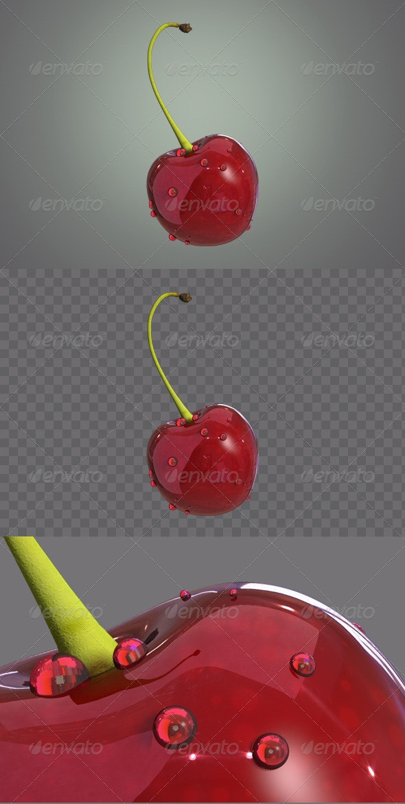 Cherry 3D - Objects 3D Renders