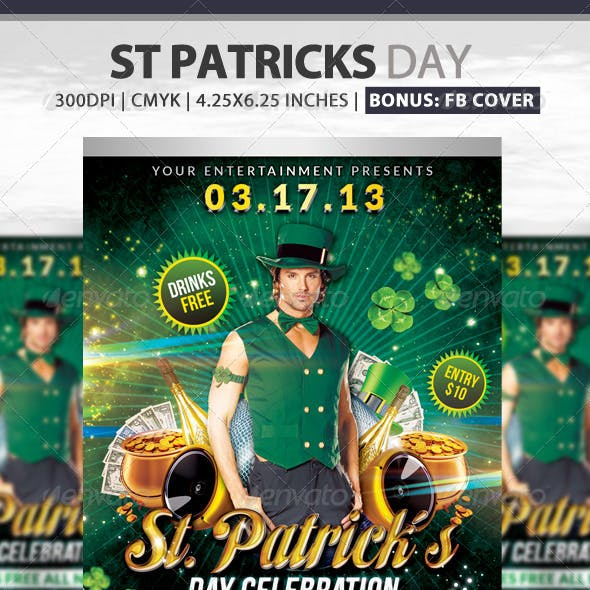 St. Patrick's Day Flyer + Fb Cover