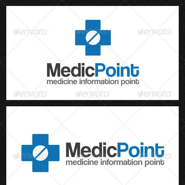 Medic Point Logo Template