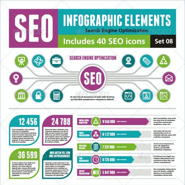 SEO Infographic Elements - Set 08