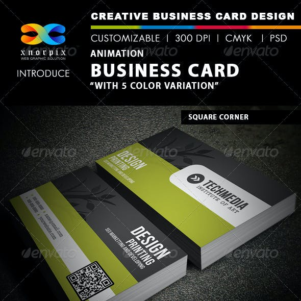 Animation Business Card