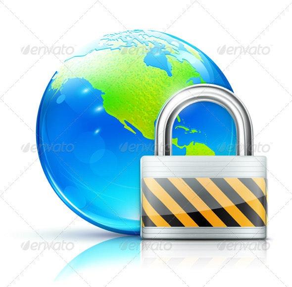 Global Security Concept - Conceptual Vectors
