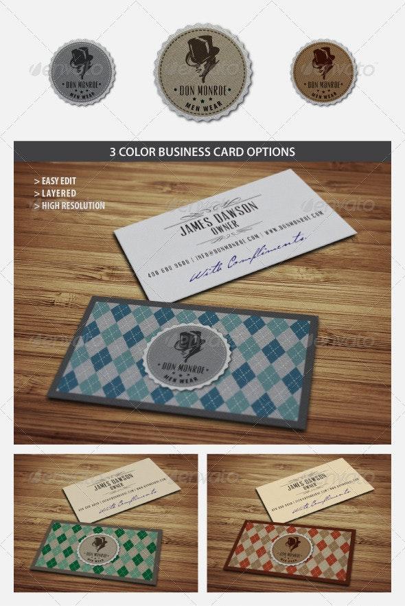 Classy Retro Logo and Business Card - Retro/Vintage Business Cards