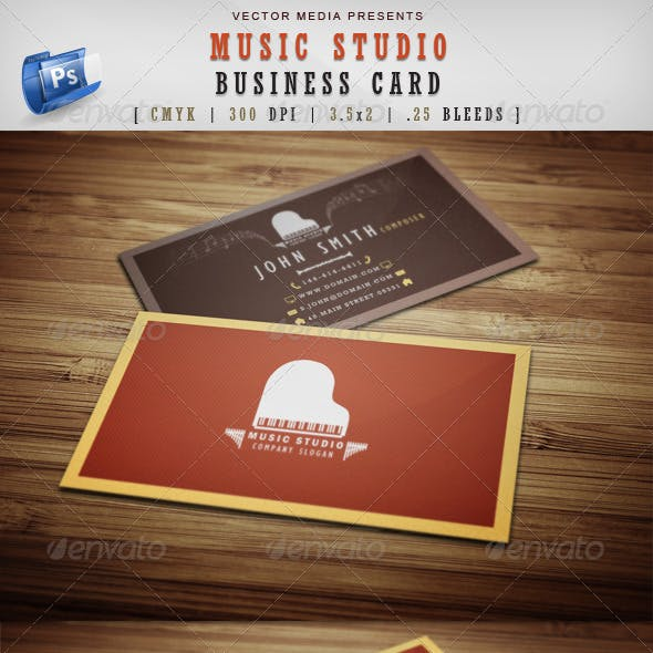 Music Studio - Business Card