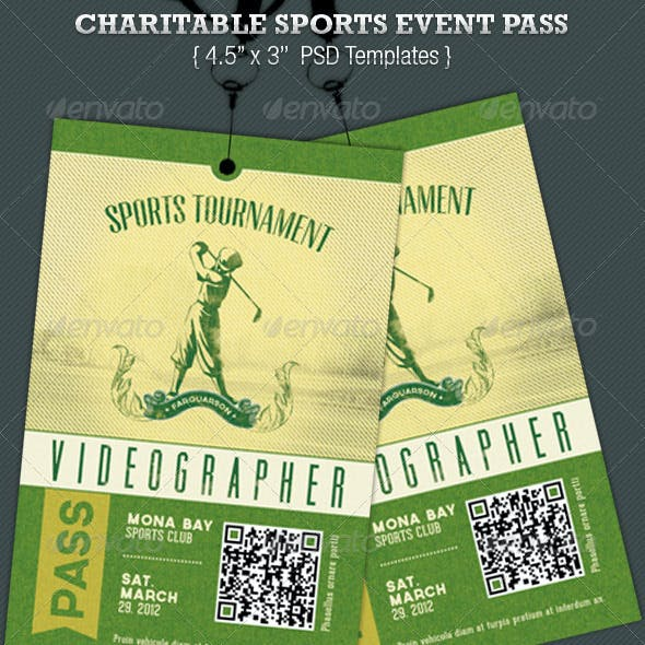 Charitable Sports Event Pass Template