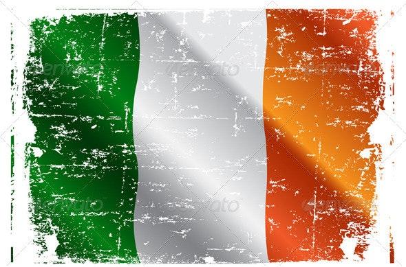 Irish Flag - Decorative Symbols Decorative