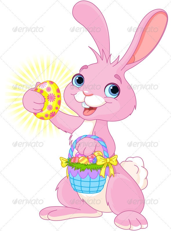 Easter Bunny with Easter Egg - Seasons/Holidays Conceptual
