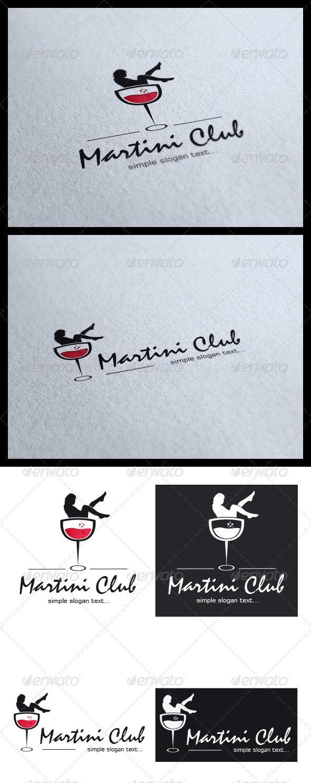 Martini Club Logo - Objects Logo Templates
