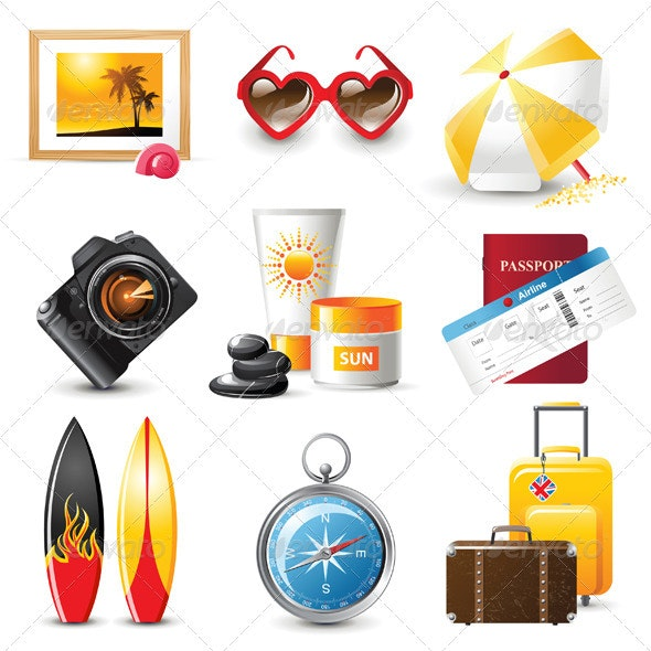 Travelling Icons - Vectors