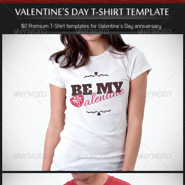 Valentine's Day T-shirt Template