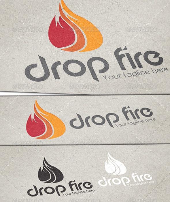 Drop Fire Logo Template - Nature Logo Templates