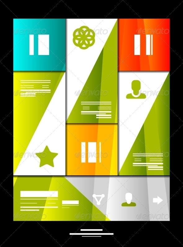 Infographic Banner Design Elements - Web Elements Vectors
