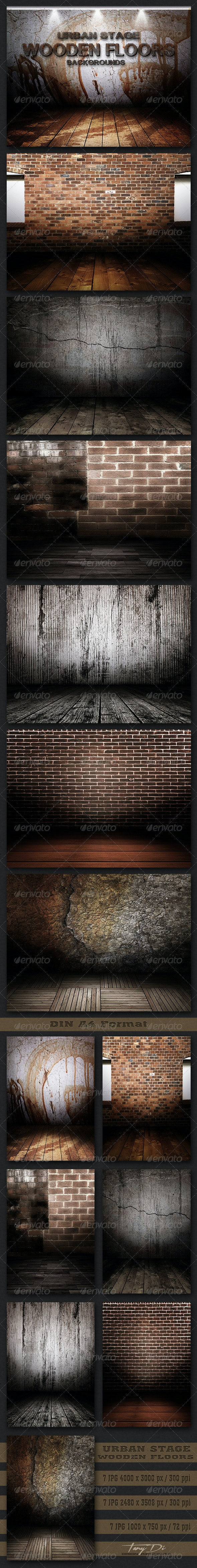 Urban Stage Wooden Floors - 3D Backgrounds