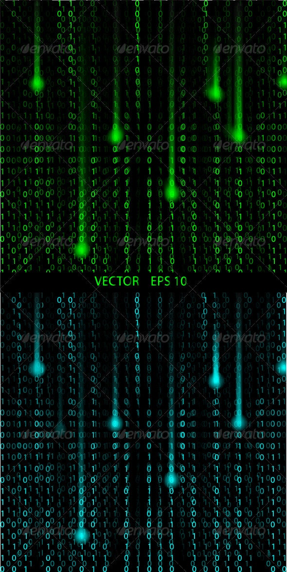 Matrix Abstract Vector Background - Backgrounds Business