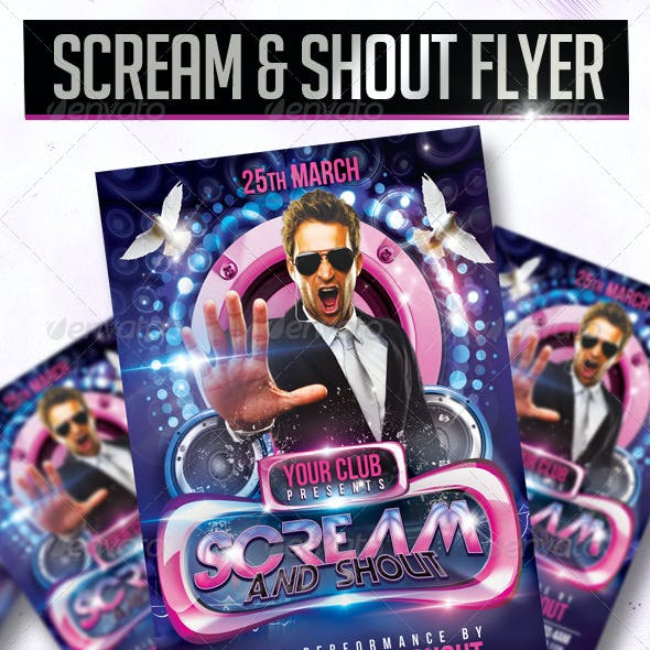 Scream And Shout Flyer Template