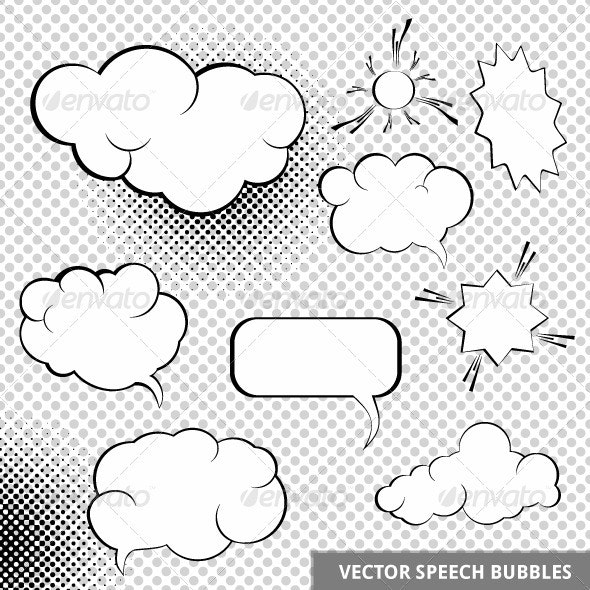 Vector Speech Design Elements - Decorative Symbols Decorative