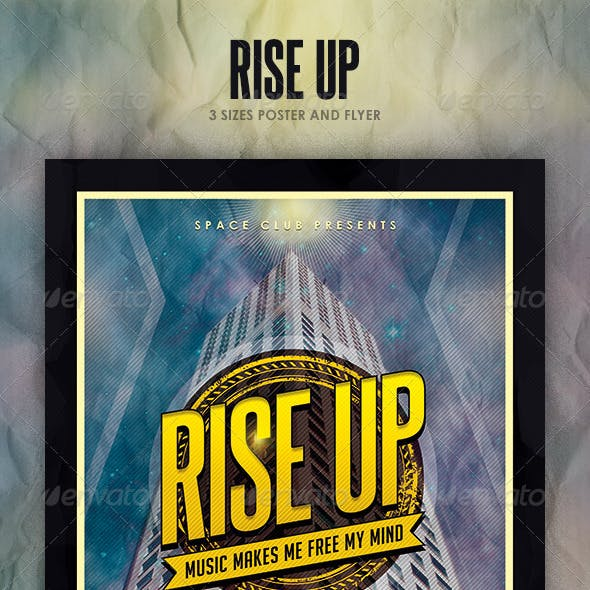 Rise Up Poster and Flyer