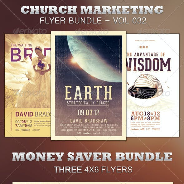 Church Marketing Flyer Bundle Vol 032
