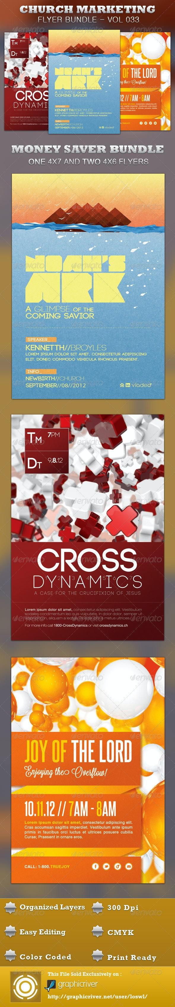 Church Marketing Flyer Bundle Vol 033 - Church Flyers