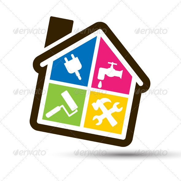 4 color house for home bricolage. - Man-made Objects Objects