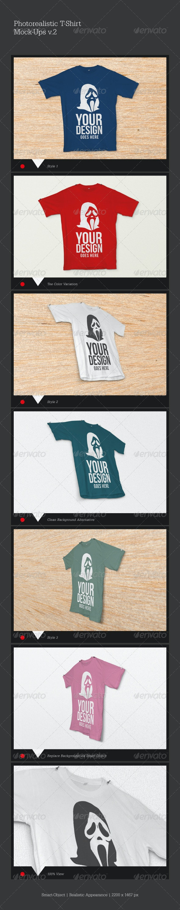 Photorealistic T-Shirt Mock-Ups - T-shirts Apparel