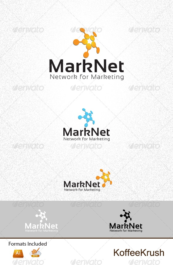 Marketing and Networking Logo - 3d Abstract