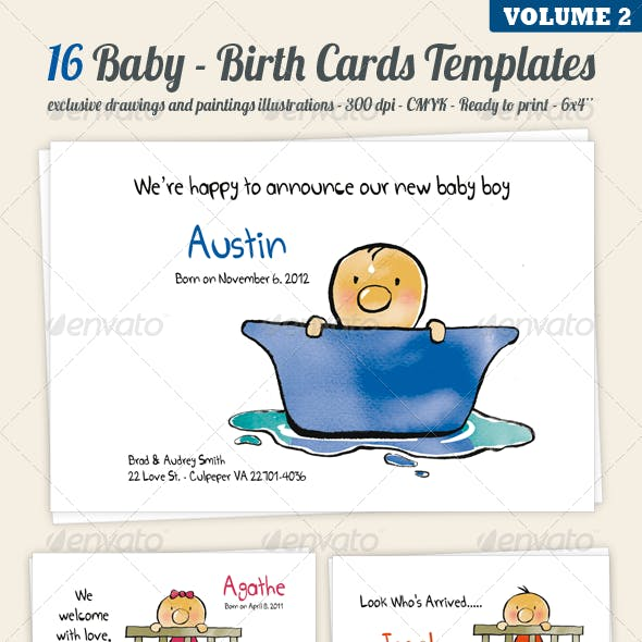 Birth/Baby Announcement Cards - Volume 2