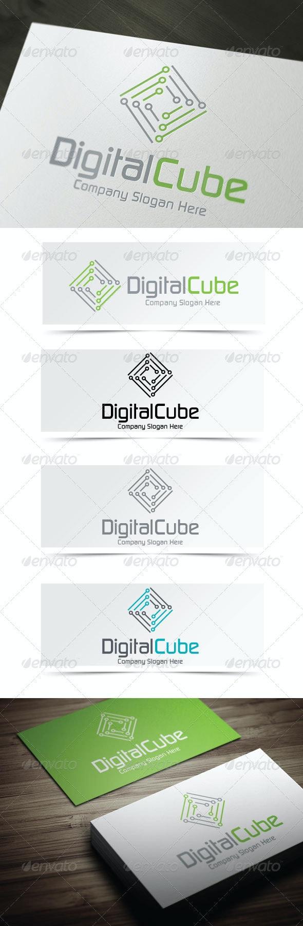Digital Cube - Abstract Logo Templates