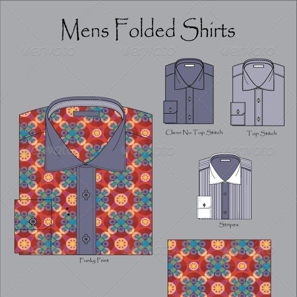 Men's Wear Folded Shirt Vector