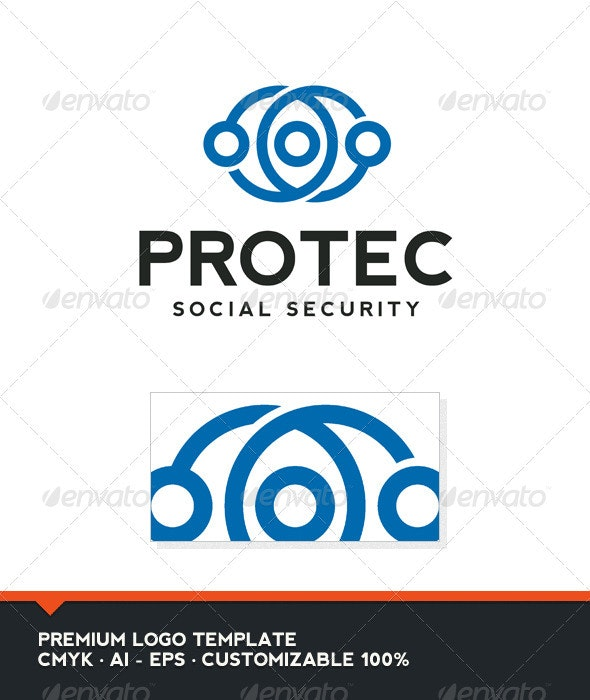 Protec Logo Template - Vector Abstract