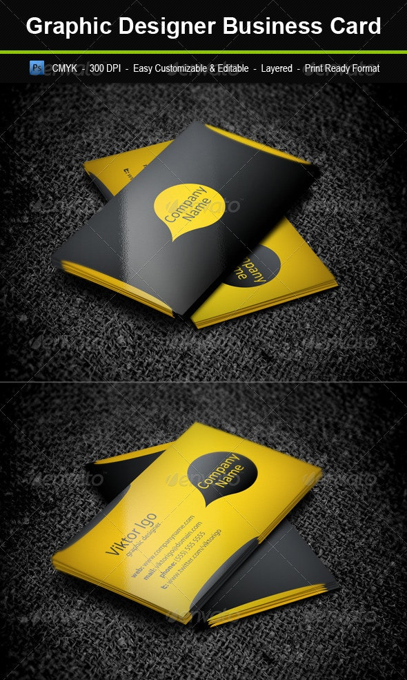 Graphic Designer Business Card - Corporate Business Cards