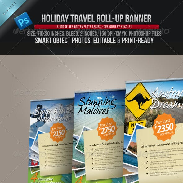 Holiday Travel Roll-up Banner