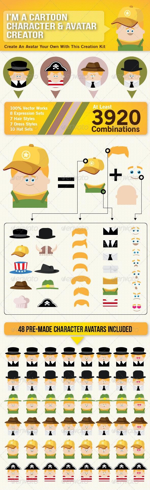 Cartoon Character Avatar Creator - People Characters
