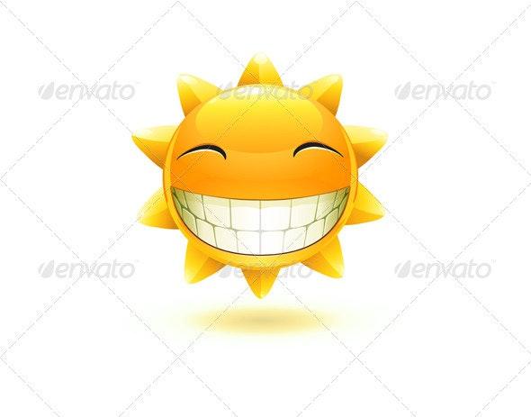happy summer sun  - Characters Vectors