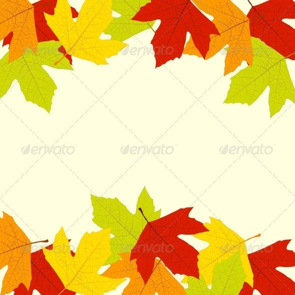 Autumn Leaves Frame - Borders Decorative