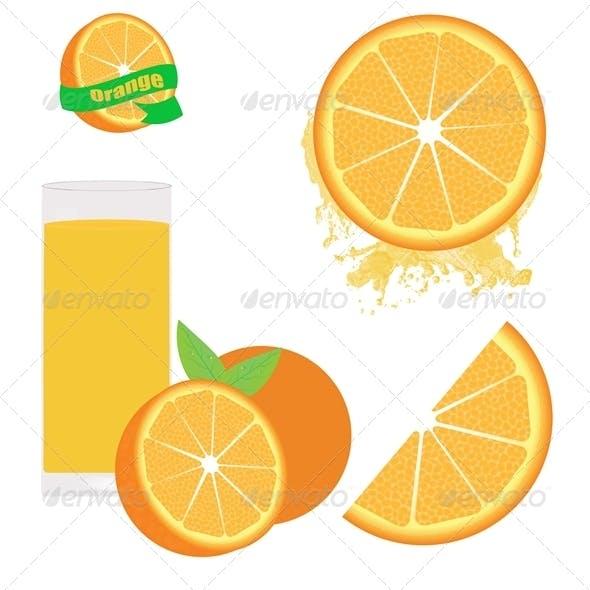 Orange Set on white
