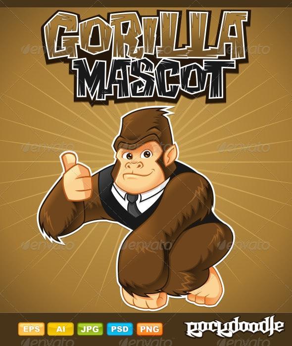 Gorilla Mascot - Characters Vectors