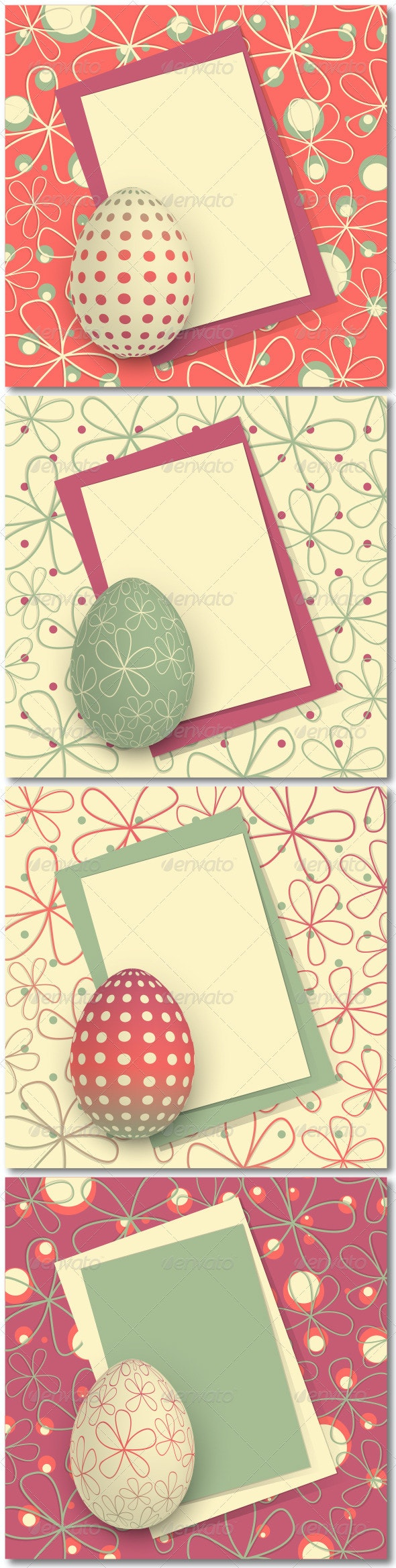 Four Easter Cards - Miscellaneous Seasons/Holidays