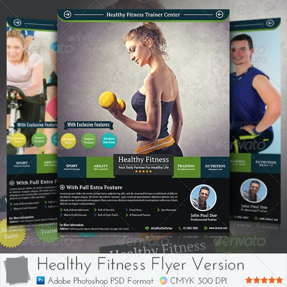 Healthy Fitness Flyer