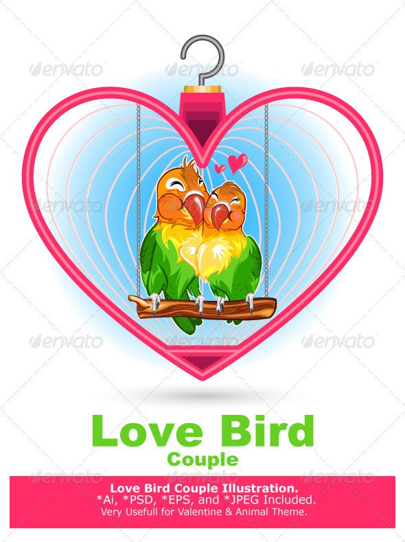 Valentine Love Bird - Valentines Seasons/Holidays