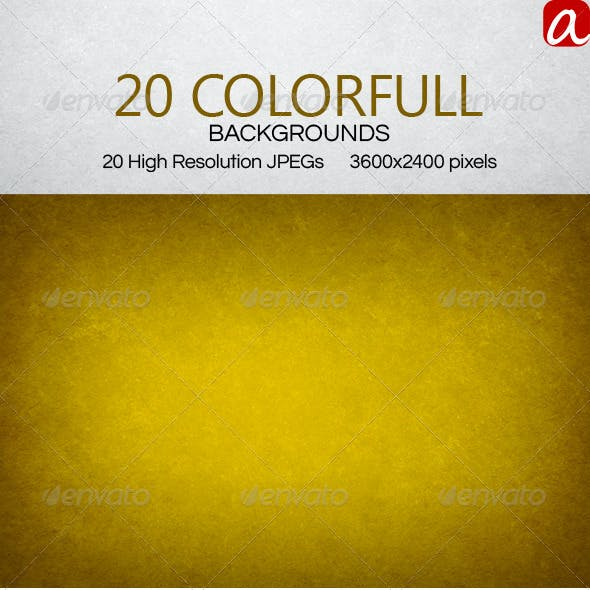 20 Color Full Backgrounds