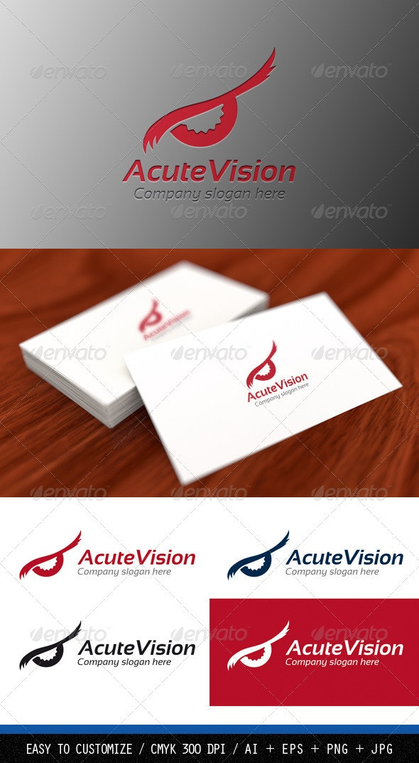 Acute Vision Logo Template - Humans Logo Templates