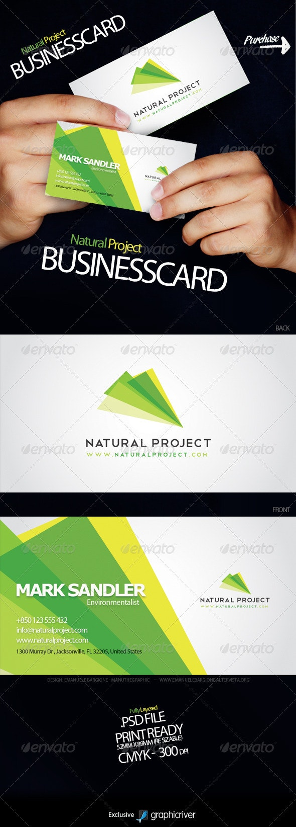 Natural Project Business Card - Corporate Business Cards