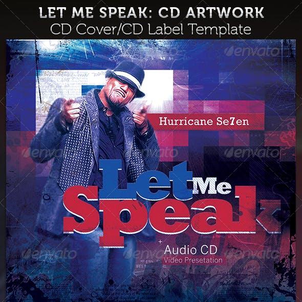 Let Me Speak CD Cover Artwork Template