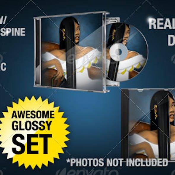 CD/DVD Jewel Case Disc Mockup Set
