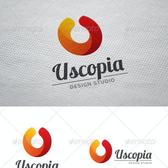 Uscopia U Letter Logo