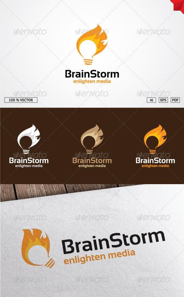 BrainStorm logo - Objects Logo Templates