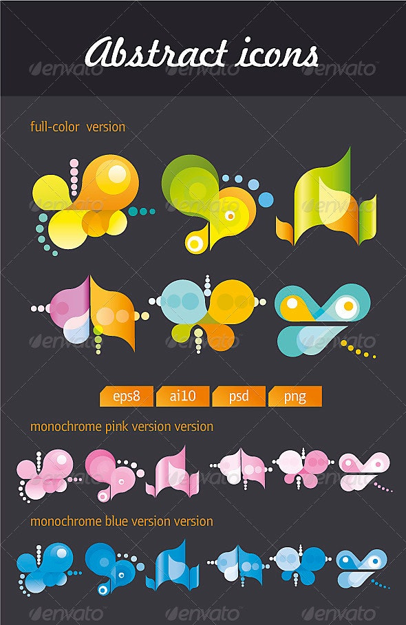 Abstract Icons #1 - Decorative Symbols Decorative