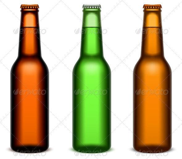 Beer Bottles - Objects Vectors