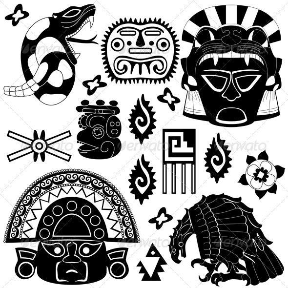 Ancient American Elements - Religion Conceptual